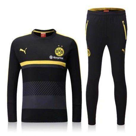 Chándal Borussia Dortmund 2016-2017 Negro  4d6f3f0ddde5f