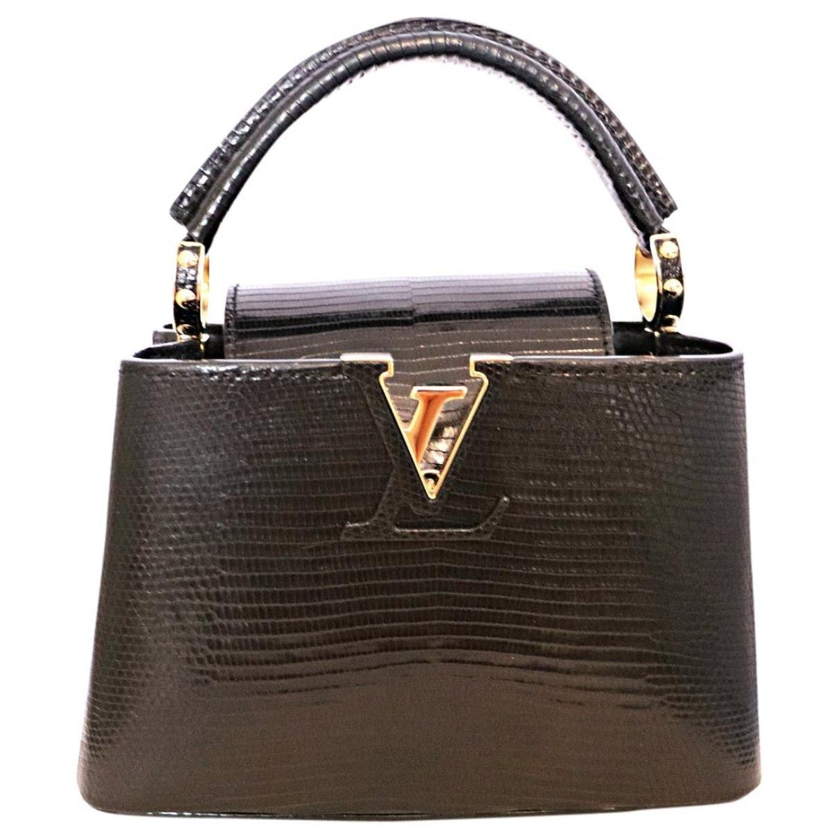 59c14ea1462e Capucines lizard crossbody bag Louis Vuitton Black in Lizard - 6911804