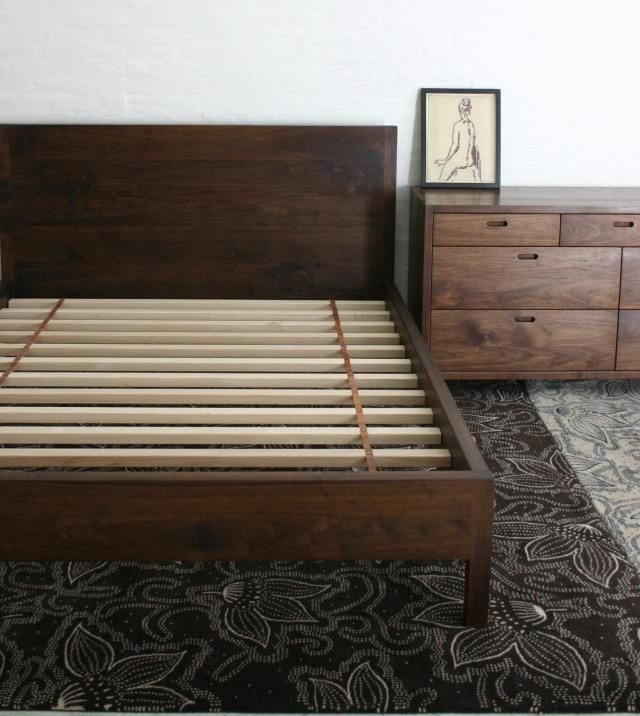 10 Easy Pieces Essential Wooden Beds Walnut Bed Frame Dark