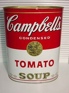 Campbell S Soup Trash Bin Campbell Soup Campbells Campbell S Soup Cans