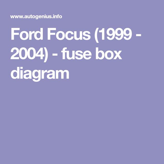 Ford Focus  1999 - 2004