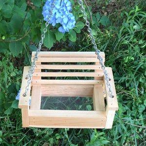 Cypress Porch Swing Squirrel Bird Feeder Cypress Wood Thank You Gift Yard Decor Bird Lovers Outdoor Gift Grandparent Gift