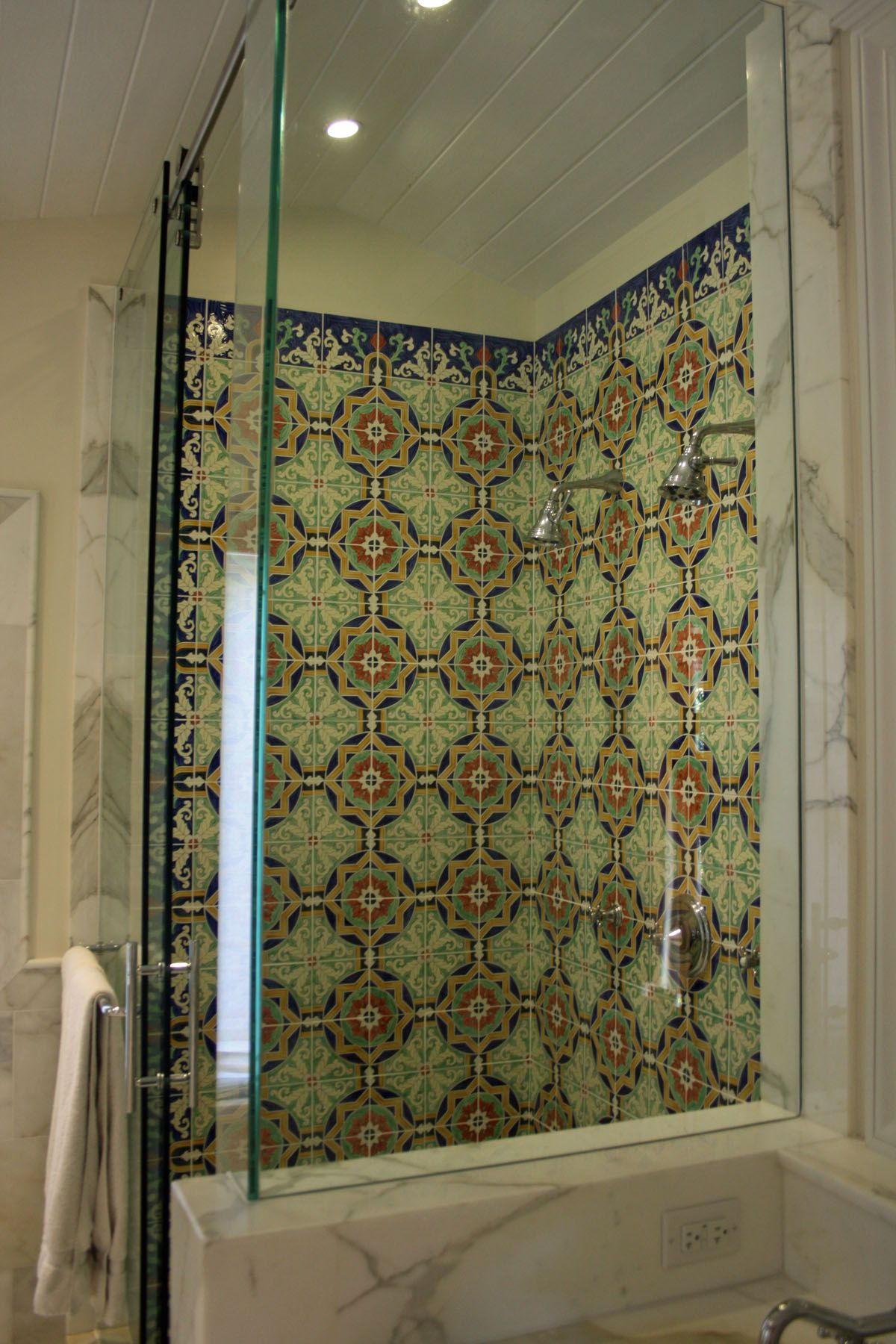 Custom Hand Painted Tiles Installed In