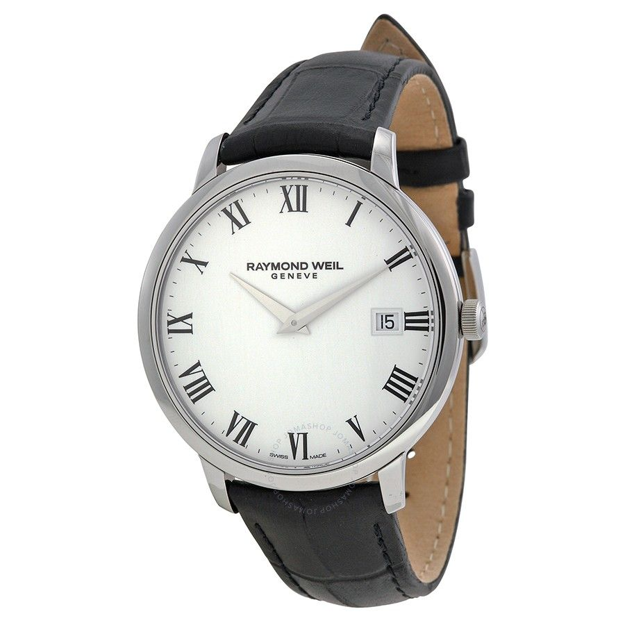 Raymond Weil Toccata White Dial Black Leather Strap Men S Watch 5588 Stc 00300 Luxury Watches For Men Watches For Men Leather
