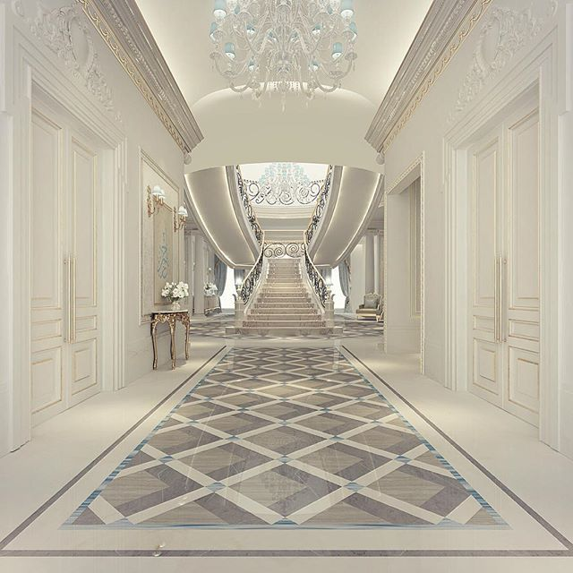 Interior Home Decoration Indoor Stairs Design Pictures: Luxury Entrance Lobby Design - Oman - Muscat