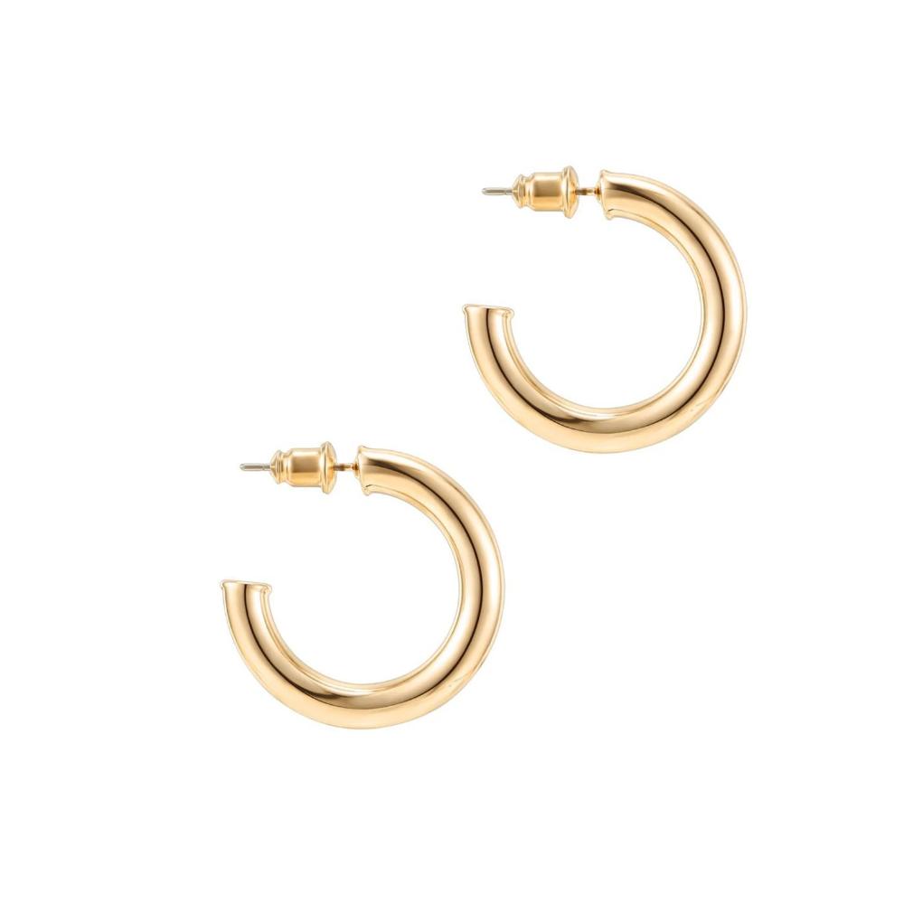 Lightweight Chunky Open Hoop Earrings Pavoi Gold Hoops Gold Hoop Earrings Women S Earrings