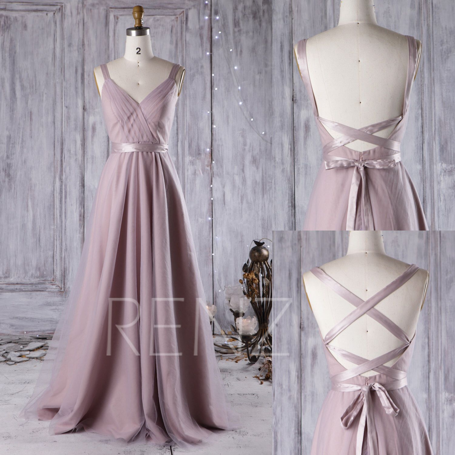 Mauve Bridesmaid Dress Convertible Straps,A Line Wedding Dress,Ruched  Multiway Dress Maxi Dress,Backless Evening Dress,Infinity Dress(JS081)