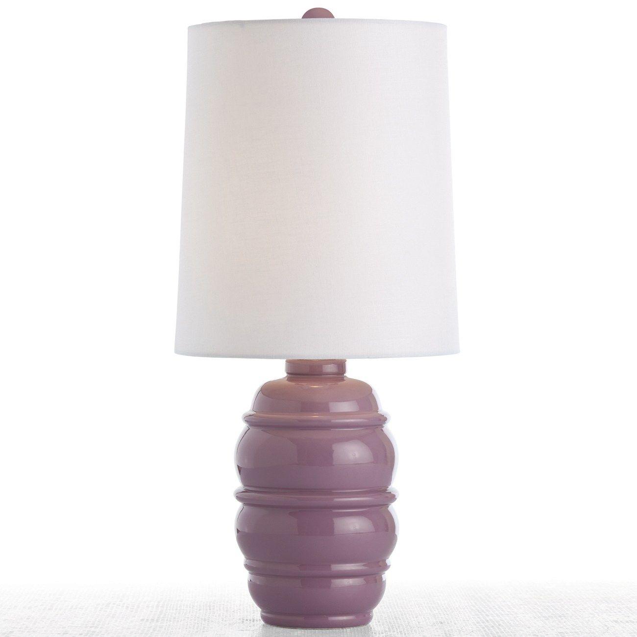 Arteriors Scout Violet Porcelain Accent Table Lamp