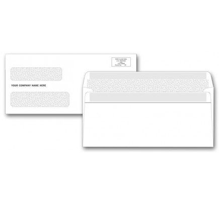 Double Window Confidential Self Seal Envelopes Free Shipping Free Company Logo Business Envelopes Seal