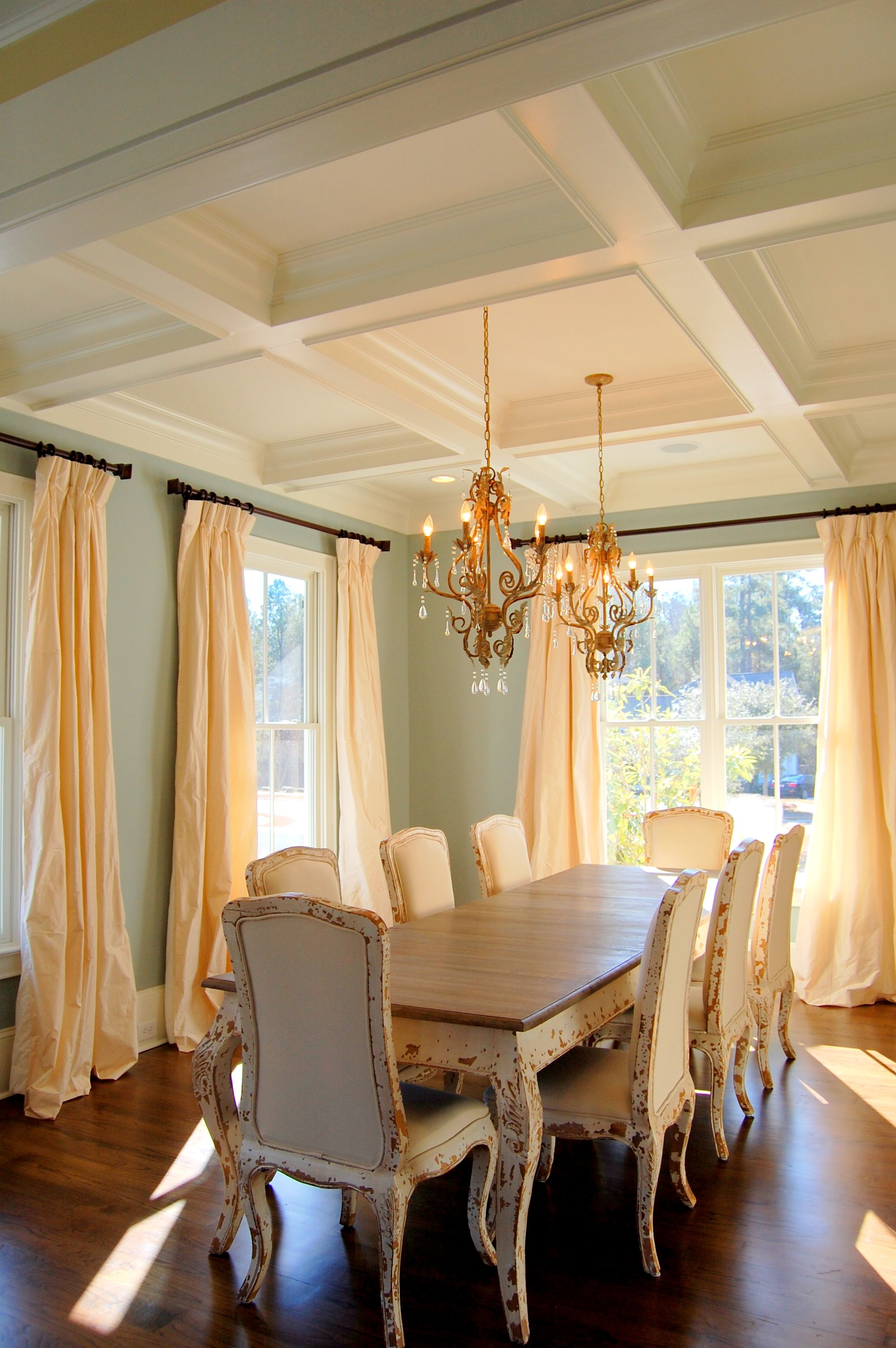 Dining Room Coffered Ceiling (Preserve House)