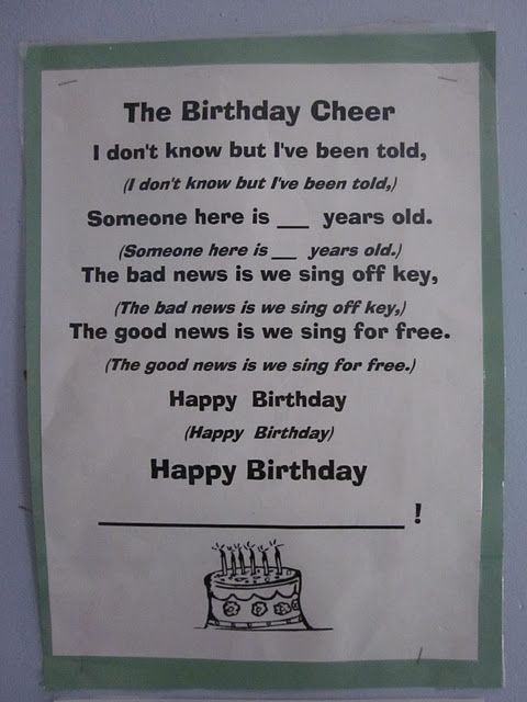 Happy Birthday To Your Students Printable Freebies To Make It