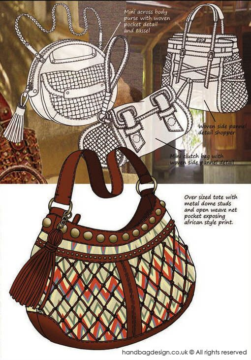 Handbag / Purse design illustration sketch drawing - Mood ...