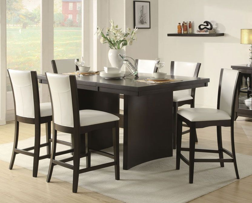 Nice Fancy Counter Height Dining Room Table Sets 79 With Pleasing Espresso Dining Room Table Sets Design Ideas