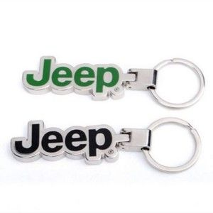 Amooca Black 3d Jeep Logo Valet Key Ring Jeep Keychain Jeep