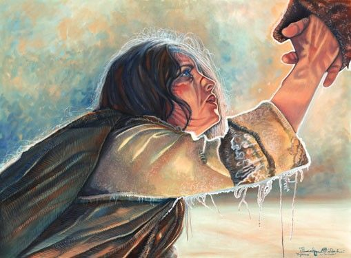 Forgiveness- A painting after the movie The Passion | Jesus artwork, Jesus art, Prophetic art