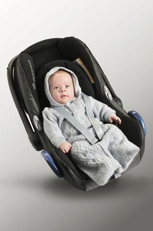 Tema 21: Modell 5 Kjørepose #strikk #baby