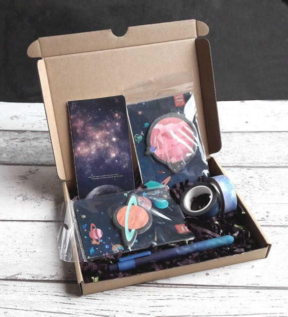Galaxy Stationery Collection Box Set A Gift For A Stationery Etsy Stationery Collection Stationery Addict Collection Box