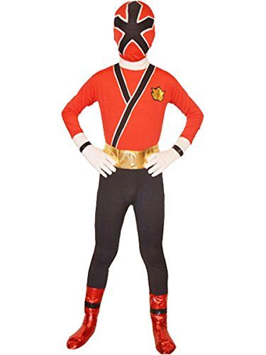 wraith of east Power Rangers costume kids cosplay halloween spandex zentai  m red 551db6d1e