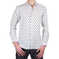 Men's fitted shirt vintage joystick pattern