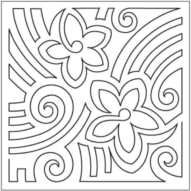 Mola - Block #1 | patch aplique | Pinterest | Vorlagen
