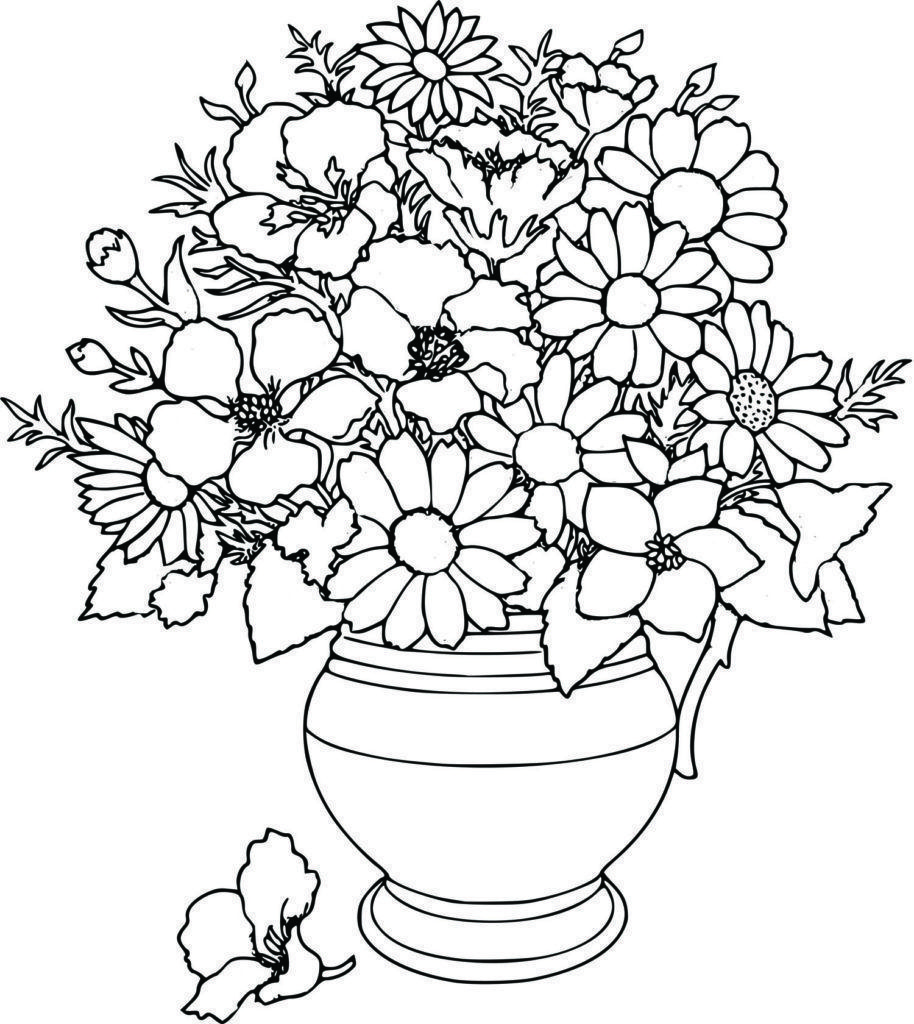 Large Flower Pot Coloring Pages 3 By Amy Flower Coloring Pages