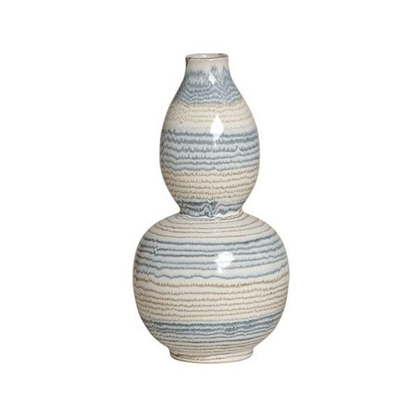 Gourd Vase in Variegated Grey design by Emissary (€51) ❤ liked on Polyvore featuring home, home decor, vases, grey vase, gourd vase, gray vase, grey home decor and gray home decor