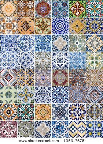 Set of 48 ceramic tiles patterns from Portugal. by homydesign, via ...