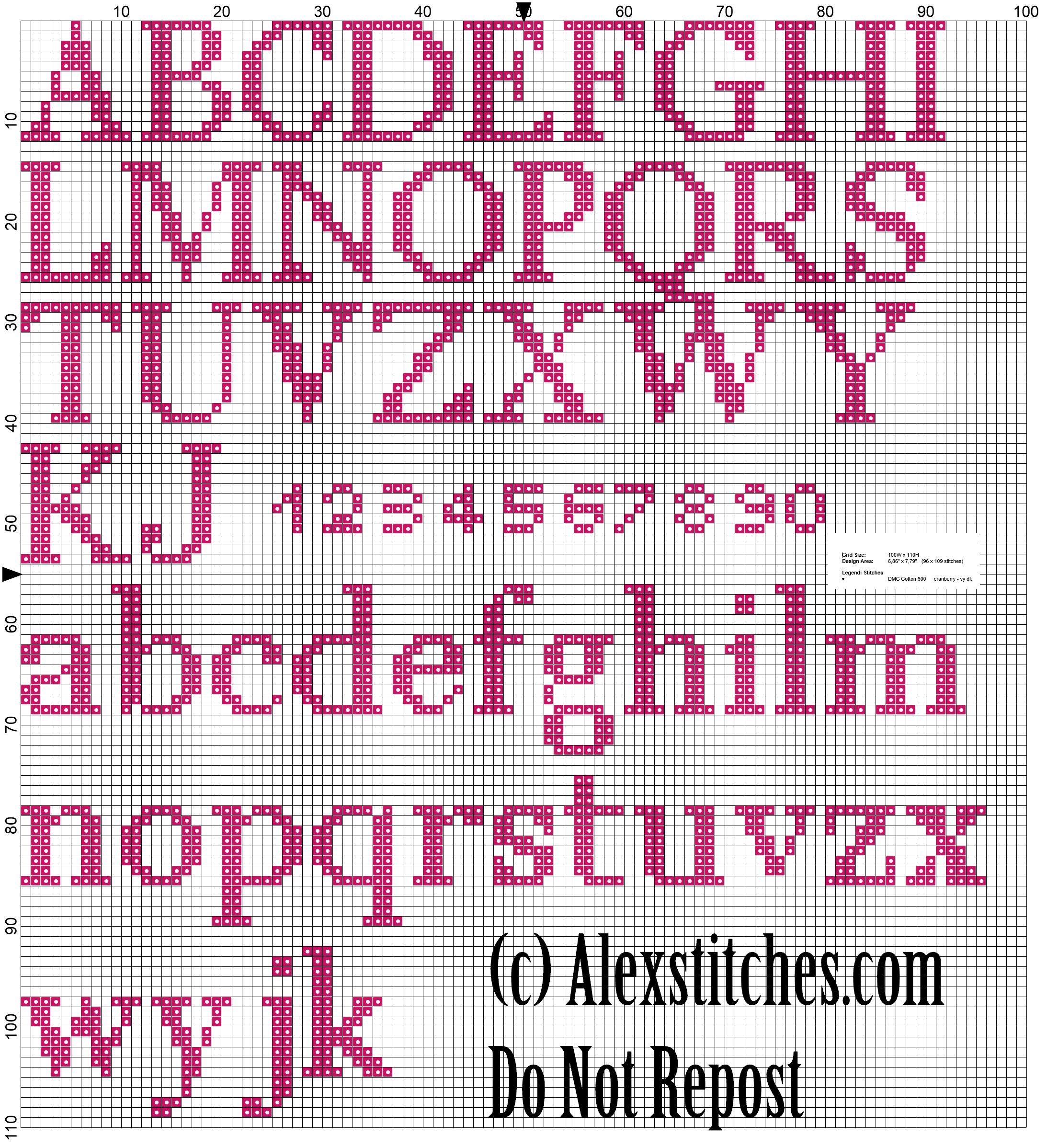 Alfabeto punto croce free cross stitch pattern