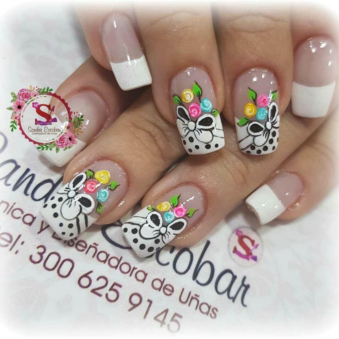 Uñas Blancas Decorada Mami Pinterest Nails Spring Nails Y