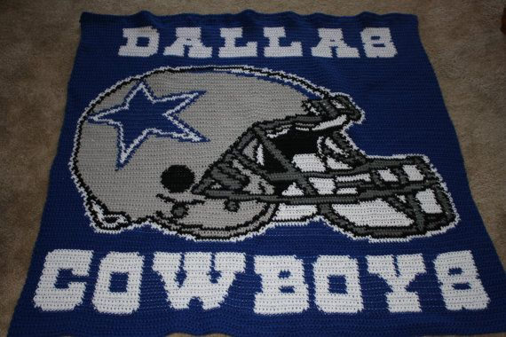 4137 Dallas Cowboys Afghan   Cowboy crochet, Dallas ...