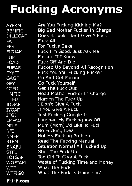 Dating acronyms