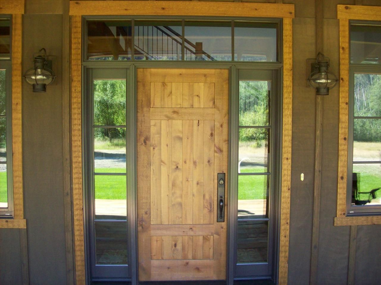 1st Impressions More Than Doors Lucky 4 Ranch Rustic Knotty