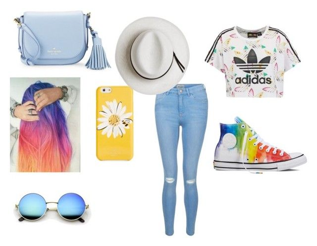 """A outfit"" by jordanbond55 ❤ liked on Polyvore featuring New Look, adidas Originals, Converse, Kate Spade, Love Boo and Calypso Private Label"
