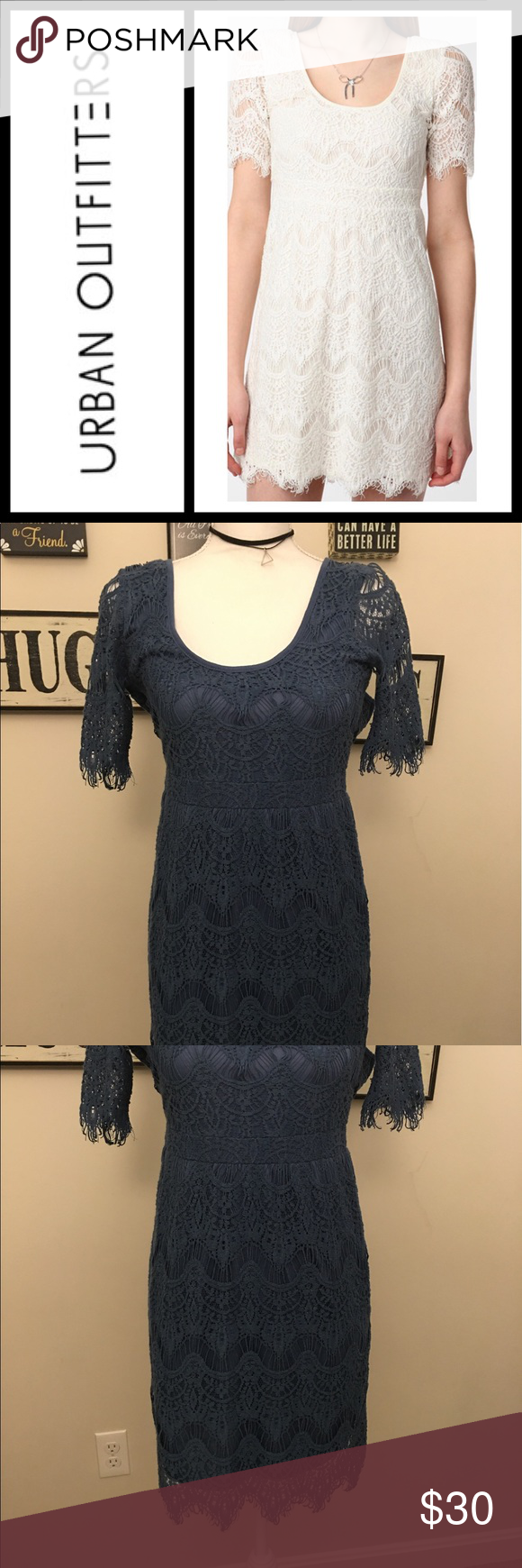Urban Outfitters Pins & Needles blue Lace dress EUC, color is blue - size small! Urban Outfitters Dresses