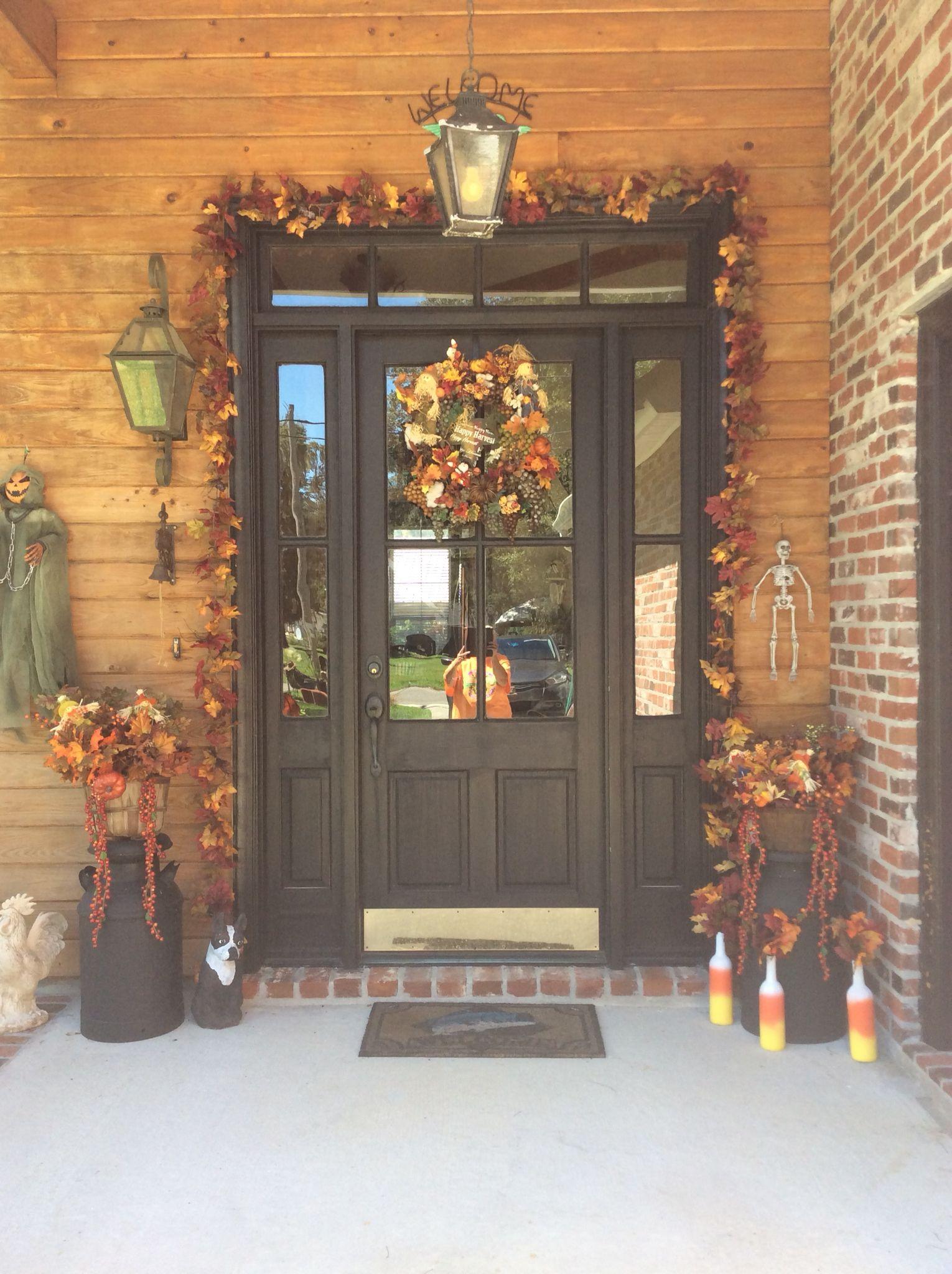 Fall 2015 Fall porch, Decor, Fall wreath