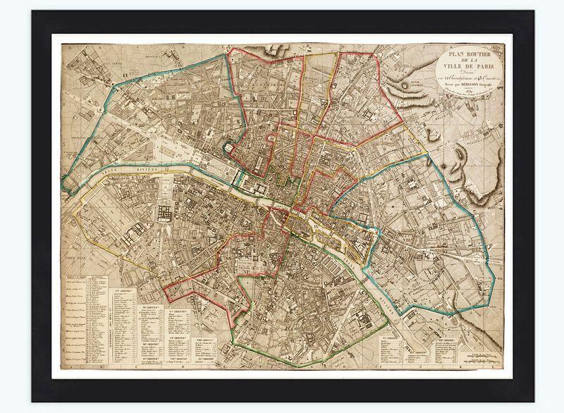 Old Map Of Paris France 1832 Paris Map Old Map Vintage Maps
