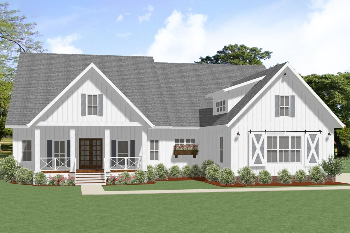 Plan 46385la Exclusive New American Ranch Home Plan In 2019 House Plans Ranch House Plans House Plans Open Floor House Plans
