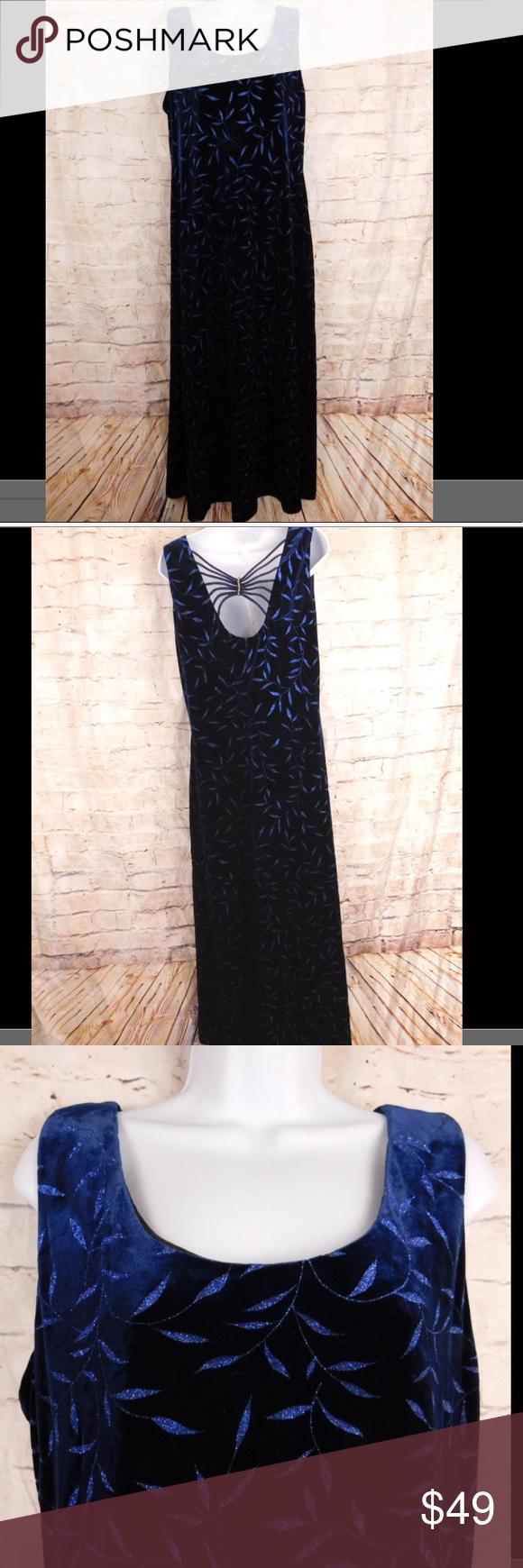 Blue velvet sparkly dress spider rhinestone back in my posh