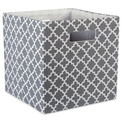 Winston Porter Cube Lattice Square Fabric Polyester Bin Colour Grey Size 11 H X 11 W X 11 D Fabric Storage Fabric Squares Cube Storage