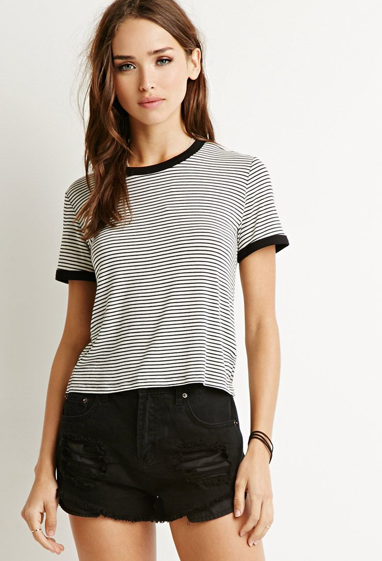 892bead7f1 Classic Striped Tee | Forever 21 - 2000167073 | Clothes | Striped t ...