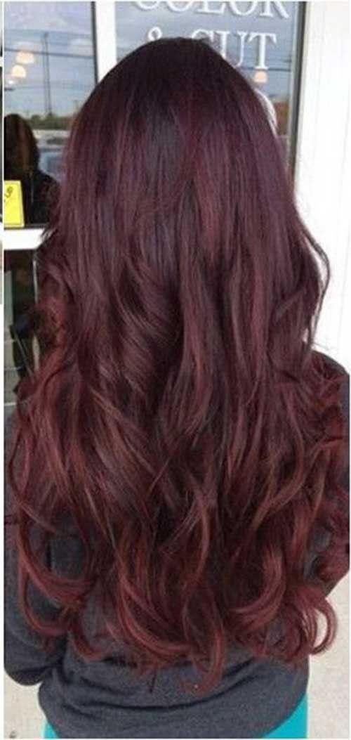 Beliebteste Dunkelrote Haarfarbe Ideen Haare Dunkelrotes Haar