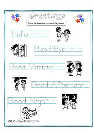 This Is A Very Simple But Useful Worksheet Special For Students Who Don 39 T Esl Worksheets For Beginners English Worksheets For Kids English Lessons For Kids Simple greetings worksheets for kindergarten
