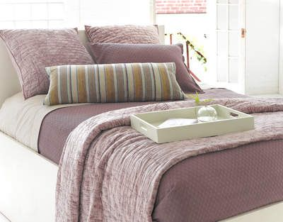 Diamond Plum Matelassé Coverlet