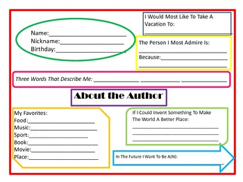 Interactive Student Notebook: About the Author Page | Teaching ...