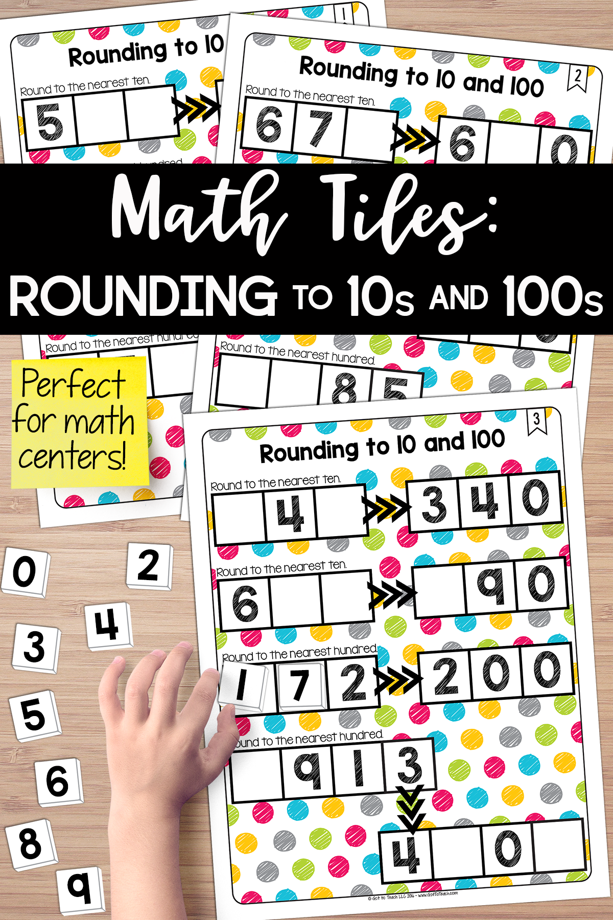 Math Tiles Rounding To 10 And 100