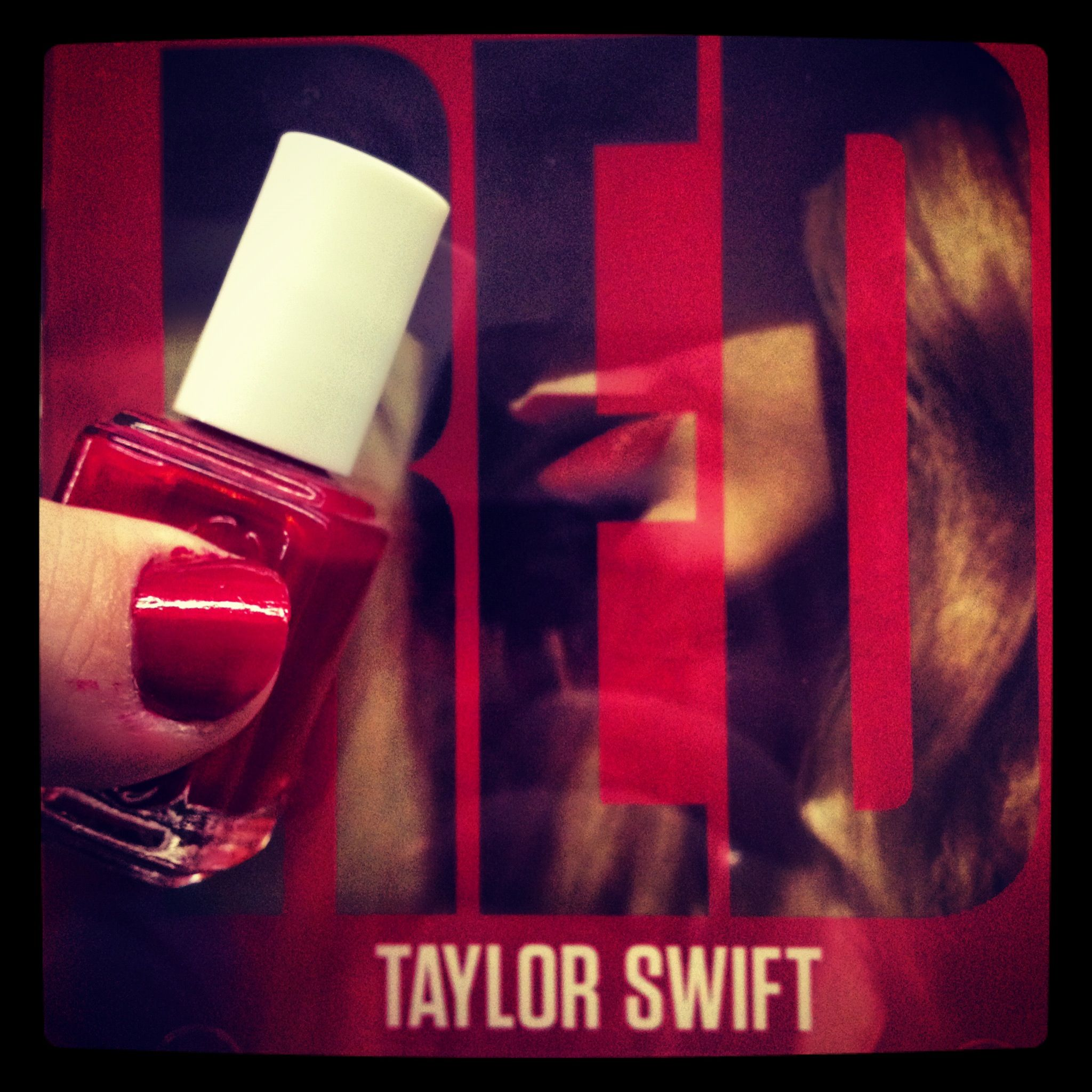 RED - Taylor Swift  And Essie red nails
