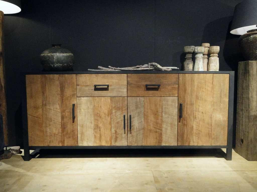 Industrieel dressoir maldini woonkamer recycled wood furniture
