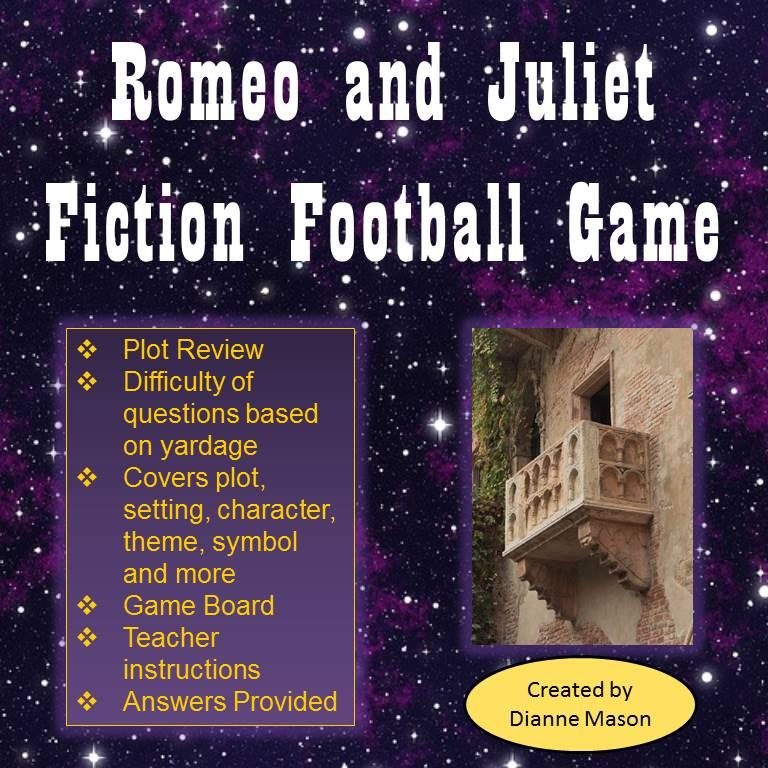 Romeo and Juliet Fiction Football Game Romeo, juliet