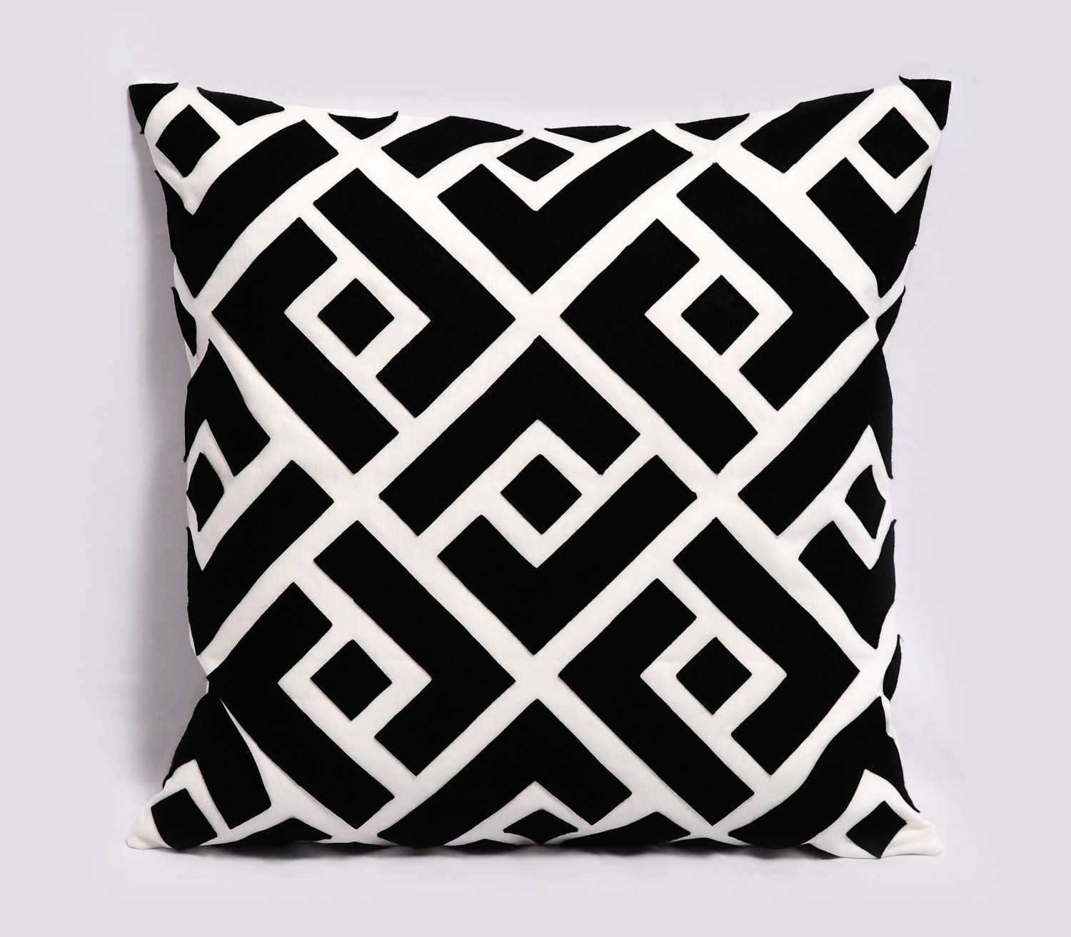 Black and white pillow cover geometric pillow decorative pillows