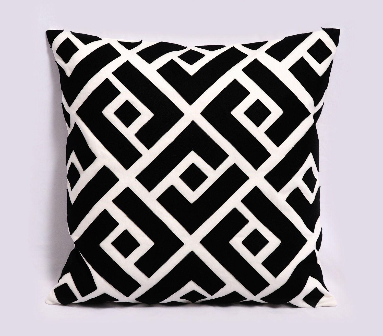 Geometric Pillows Bold Amp Graphic Black White Pillows